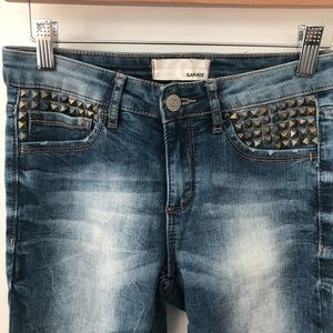 🎁4 for 20$🎁dark wash embellished pocket jeans